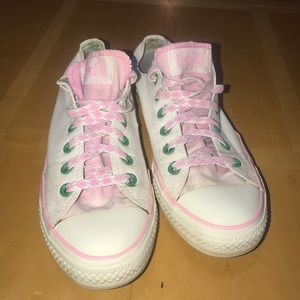 Converse All Star Argyl, Pink, Green & White